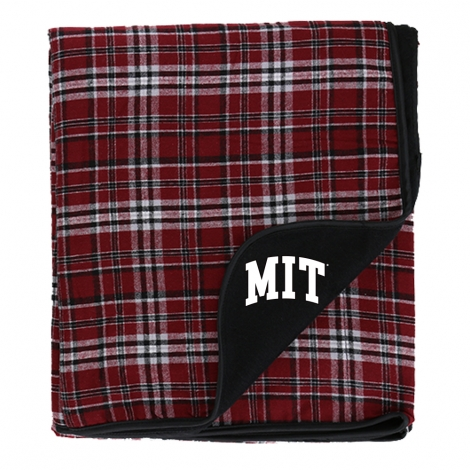 MIT Plaid Flannel Blanket