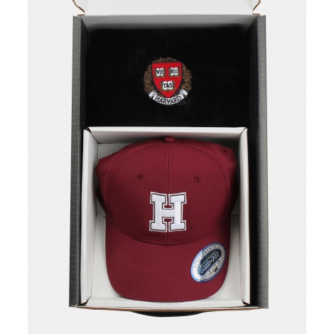 Harvard Premium Golf Gift Box with Golf Hat and Towel