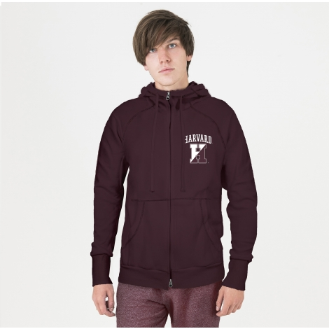 Harvard American Collegiate Full Zip Hooded Sweatshirt
