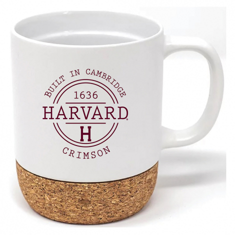 Harvard 14 oz Matte Finish Ceramic Corky Mug