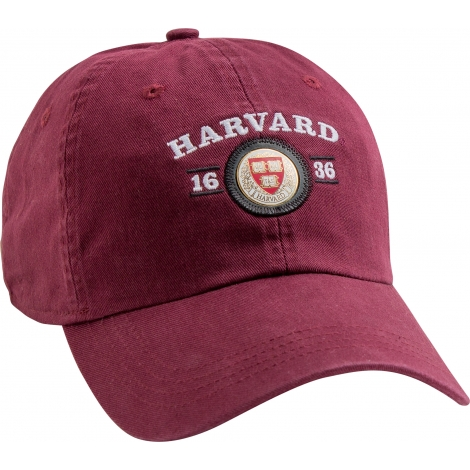 Harvard Veritas Medallion Washed Twill Hat
