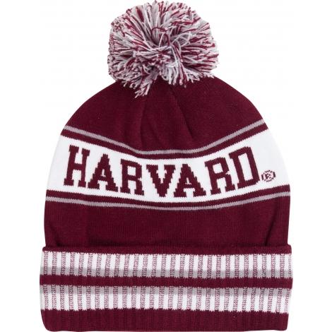 Harvard Fleece Lined Knit With Pom