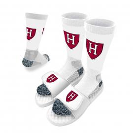 ISlide Harvard Athletic Shield Sandals and Socks