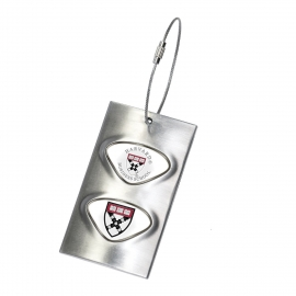 Harvard Business School Metal Luggage/Bag Tag with Custom Medallions