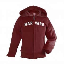 Harvard Maroon Toddler Full Zip Hoodie
