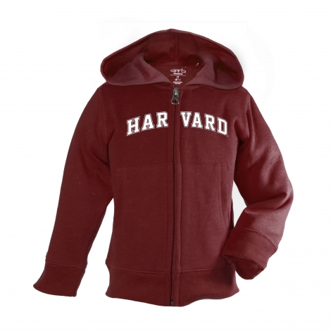 Harvard Infant Full Zip Maroon Hooded Sweatshirt