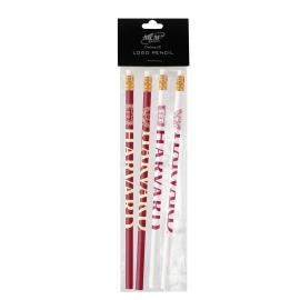 Harvard with Seal Pencil Set of 4