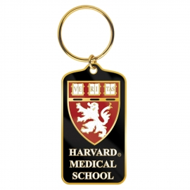 Harvard Medical School Brass Keytag
