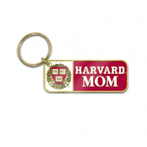 Harvard Mom Brass Keytag