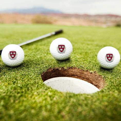 Harvard Seal TaylorMade Set of 3 Golf Balls