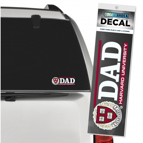 Harvard Dad Outside Decal