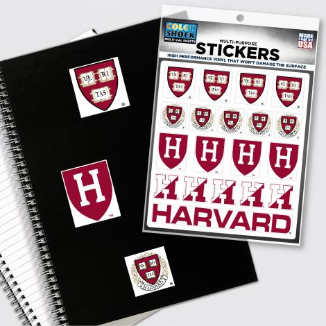 Harvard Multiple Sticker Sheet