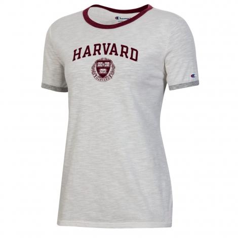 Harvard Women's Slub Ringer Tee