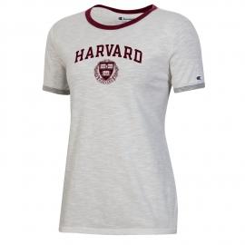 Harvard Women's Slub Ringer Tee Shirt