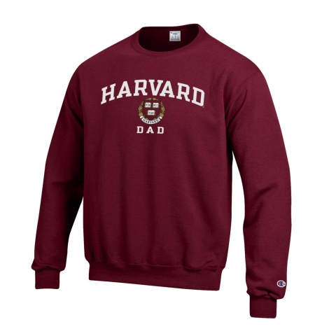 Harvard Dad Champion Crew Neck Sweatshirt