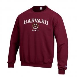 Harvard Dad Champion Crew Neck Sweatshirt