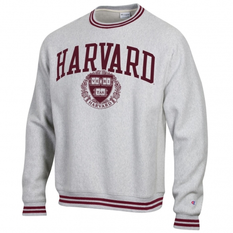 Reverse Weave Harvard Crew Sweatshirt With Retro Trim