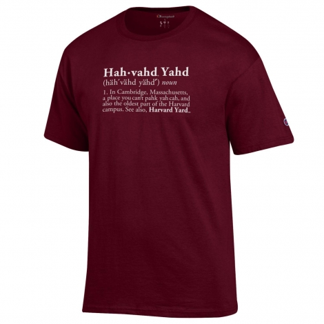 "Harvard Champion ""Hahvahd Yard"" Definition Tee"