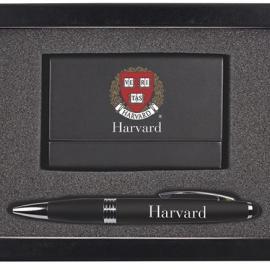 Harvard Business Card Case & Pen Set