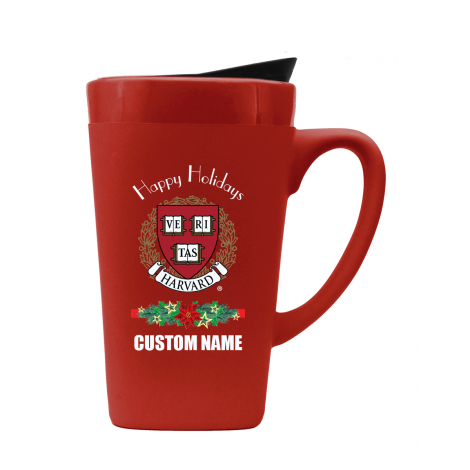 Personalized  Harvard Holiday Ceramic Mug