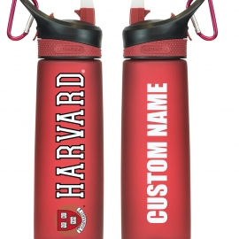 Personalized Harvard Frosted Water Bottle