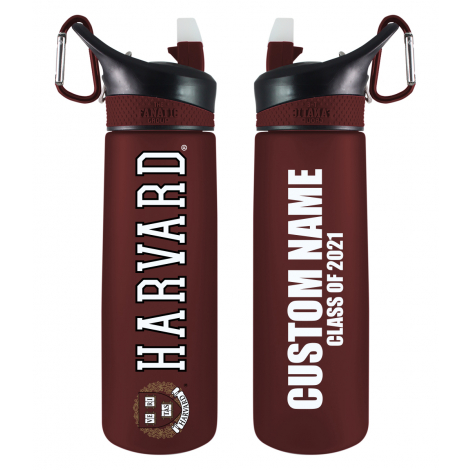 Personalized 2021 Harvard Frosted Water Bottle