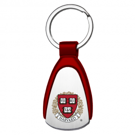 Harvard Tear Drop Metal Key Tag