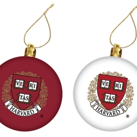 Harvard Seal Maroon/White Ornament Set