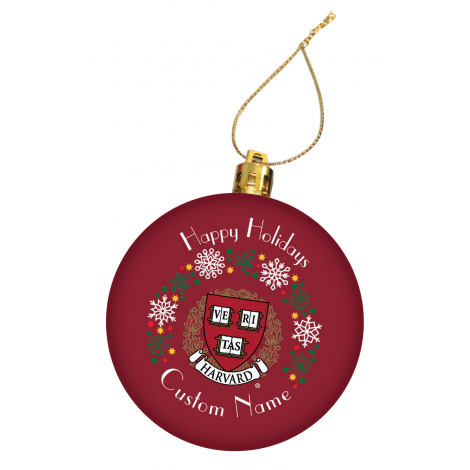 Personalized Harvard Holiday Ornament