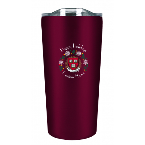 Personalized Harvard  Holiday Tumbler