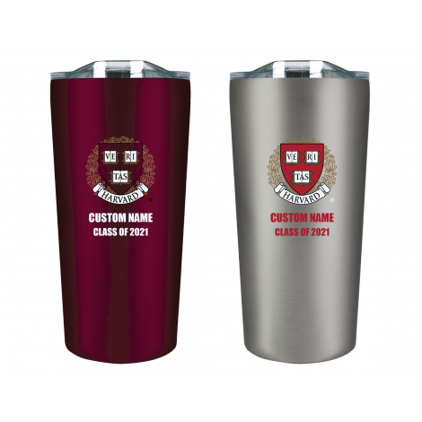 Personalized Class of 2021 Harvard Tumbler Gift Set