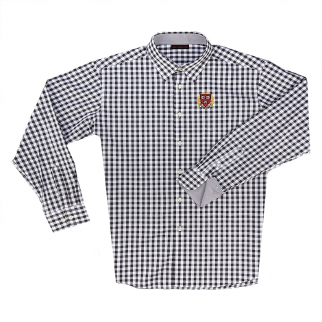Harvard Men's Gingham Button Down