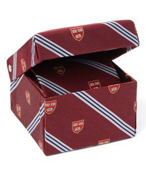Harvard Striped Tie with Veritias Shield in Gift Box