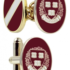 Harvard Enamel Cufflinks