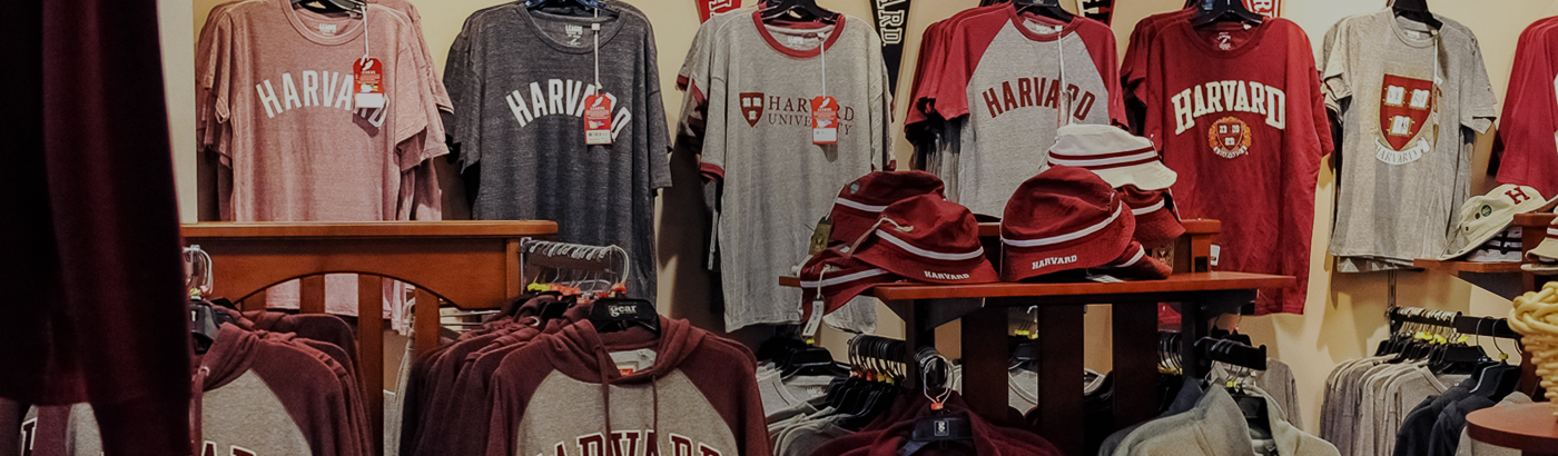 Official Harvard Tshirts from the Harvard Campus Bookstore