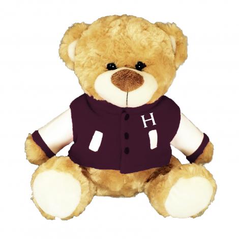 Harvard Fred Bear in Varsity Jacket