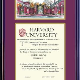 Undergrad or Grad Diploma Frame w/ Lithograph