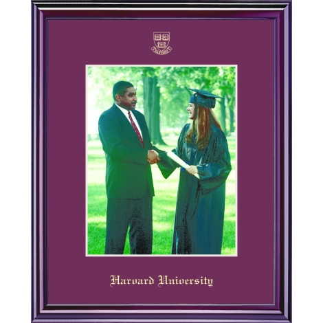 Harvard Veritas Shield Embossed Photo Frame