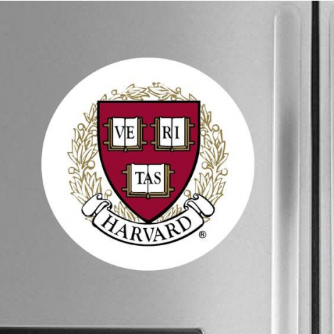 Harvard Seal Magnetic Button