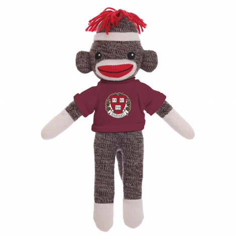 "Harvard Sockiez 20"" Sock Monkey"