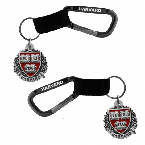 Harvard 2 Sided Key Chain Carabiner Clip