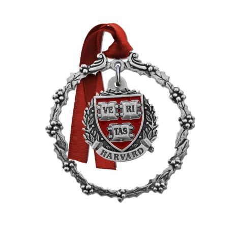 Harvard 2 Piece Pewter Ornament