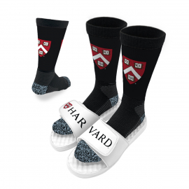ISlide Split Harvard Sandals and Socks