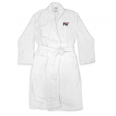 MIT Embroidered Shawl Collar Bathrobe
