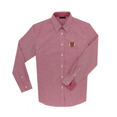 Harvard Women's Mini Check Long Sleeve Shirt