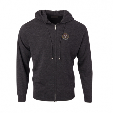 Harvard Men's Merino Full Zip Hoodie