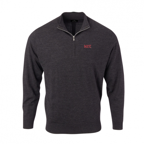 MIT Men's Solid Merino 1/4 Zip Pullover