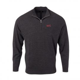 MIT Men's Solid Merino 1/4 Zip Pullover