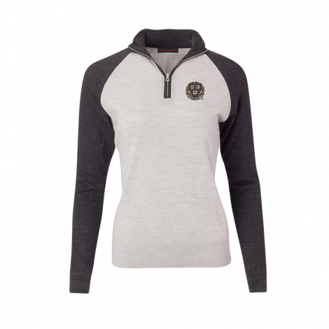 Harvard Women's Raglan Merino 1/4 Zip Sweater