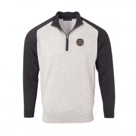 Harvard Men's Merino Raglan 1/4 Zip Sweater